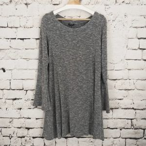 A.N.A. Shift Dress Bell Sleeves Gray M
